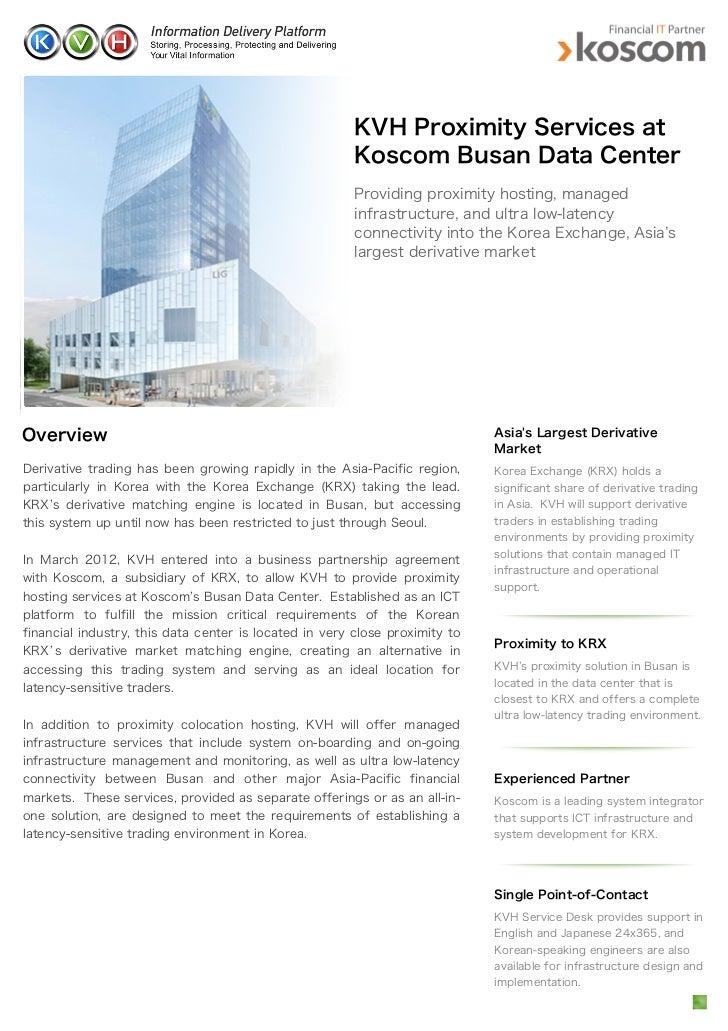 Kvh Proximity Services At Koscom Busan Data Center