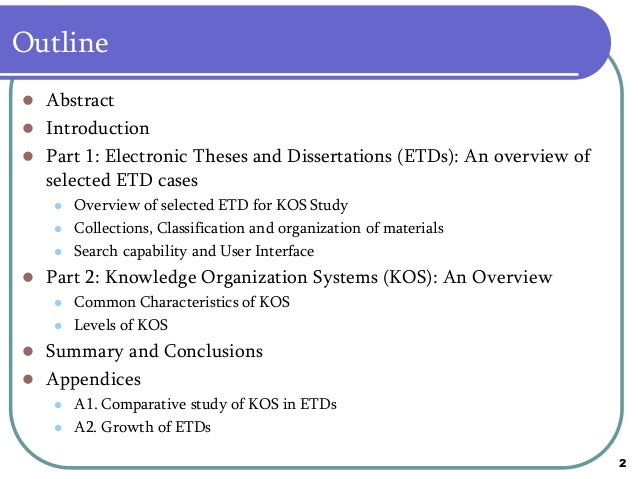 Knowledge organisation systems in etds a comparative study spiritdancerdesigns Image collections