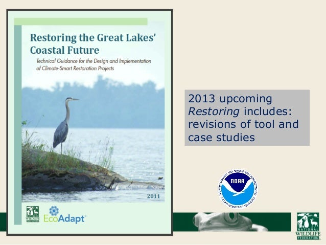 2013 upcoming Restoring includes: revisions of tool and case studies