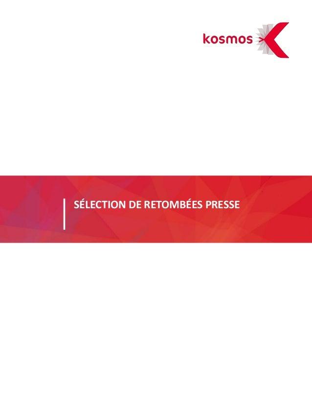 SÉLECTION DE RETOMBÉES PRESSE