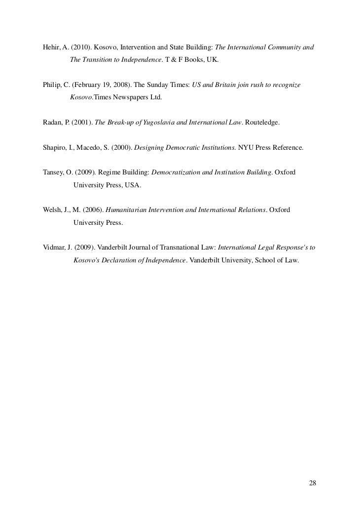 Humanitarian Intervention Essays (Examples)