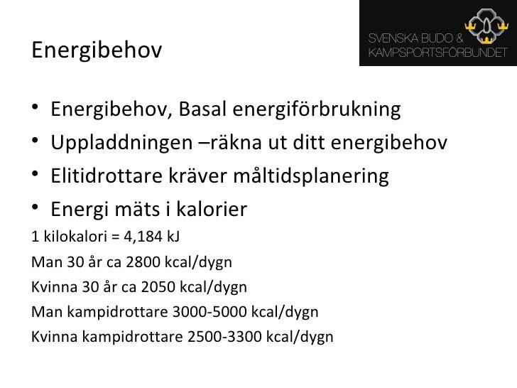 räkna ut ditt energibehov