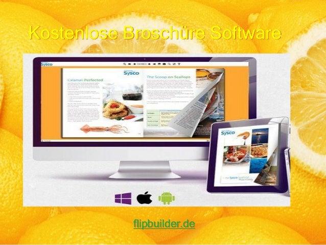 Kostenlose Broschüre Software flipbuilder.de