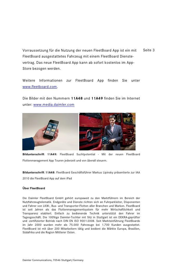 Vorraussetzung für die Nutzung der neuen FleetBoard App ist ein mit                        Seite 3FleetBoard ausgestattete...