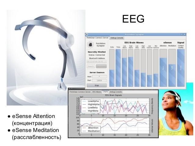 EEG  ● eSense Attention (концентрация) ● eSense Meditation (расслабленность)