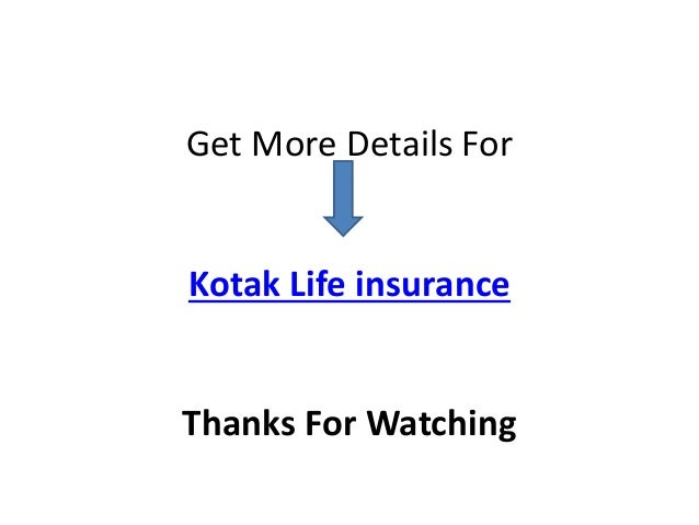 Kotak Life Insurance - Best Insurance Policies