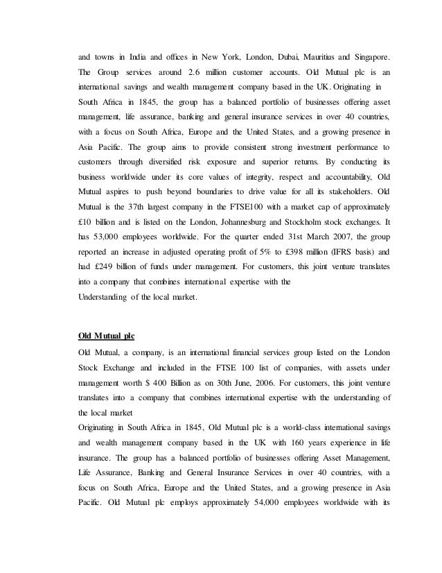 Project report on recruitment and selection process in kotak mahindra life insurance report