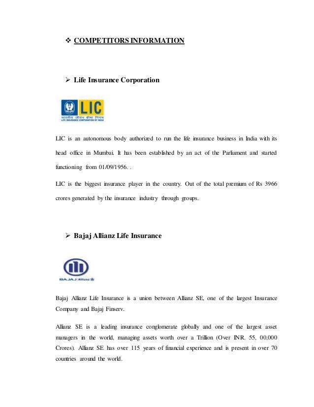 Kotak Mahindra Life Insurance Project Report On