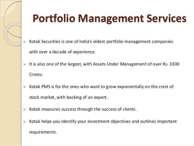 Kotak portfolio management services