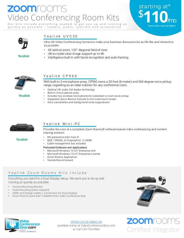 Y e a l i n k M i n i - P C Provides the core of a complete Zoom Rooms® software based video conferencing and content shar...