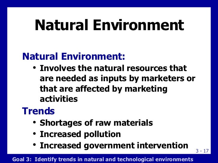 marketing environment examples Discuss the external environment of marketing and explain how it affects the marketing of your product/service only write about those external factors that directly impact your product or service (for example, if the trend of growing ethnic markets does not impact the marketing of your product or service, then do not include.