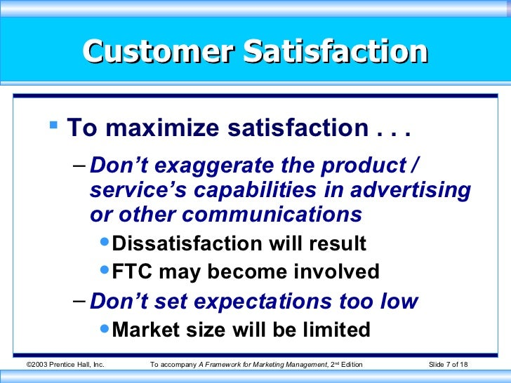 Customer satisfaction definition by kotler