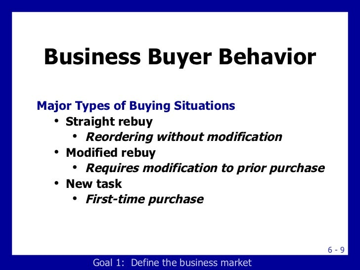 types of buying situations pdf