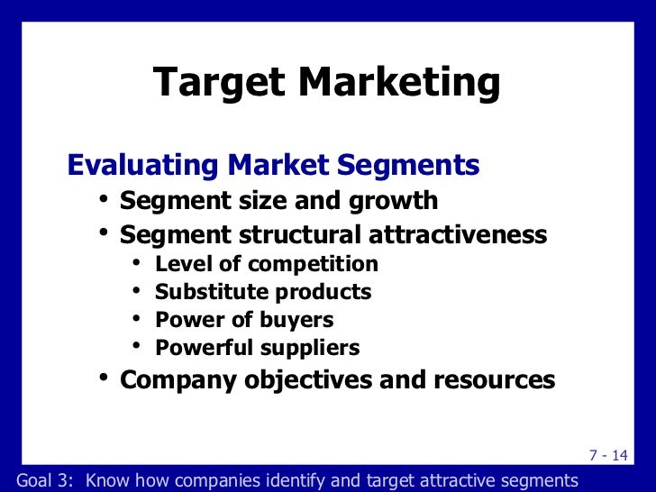 segmentation and target market By arranging their company's target market into segmented groups, rather than  targeting each potential customer individually, marketers can be.