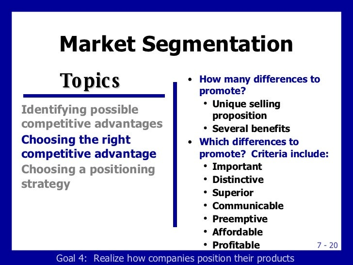 market segmentation targeting and positioning examples