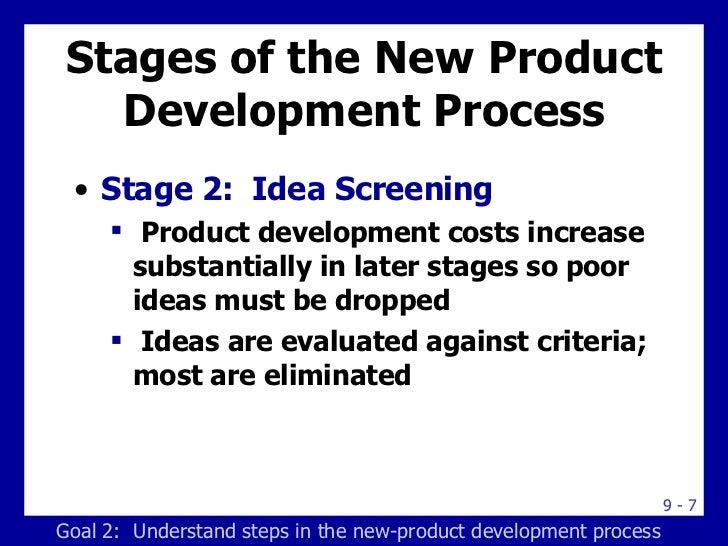 Stages of the New Product Development Process <ul><li>Stage 2:  Idea Screening </li></ul><ul><ul><li>Product development c...
