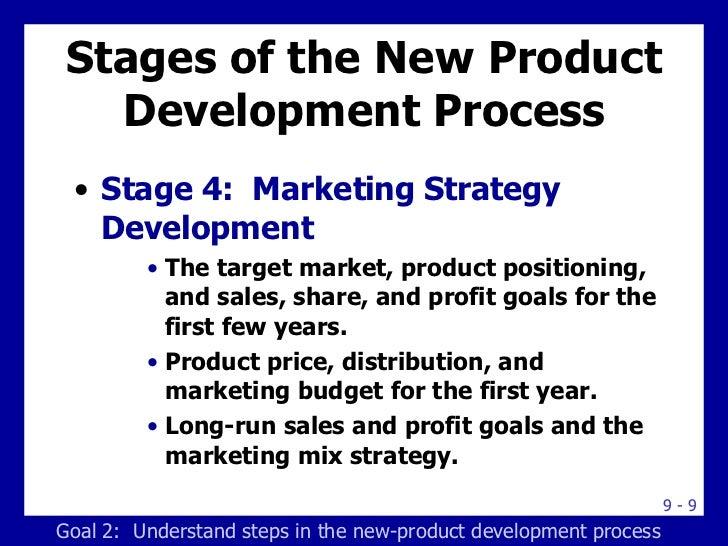 Stages of the New Product Development Process <ul><li>Stage 4:  Marketing Strategy Development </li></ul><ul><ul><ul><li>T...