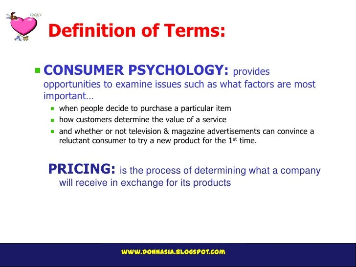 pricing and the psychology of consumption John's research focuses on consumer decision making, especially in the areas of pricing and the adoption of innovations for instance.