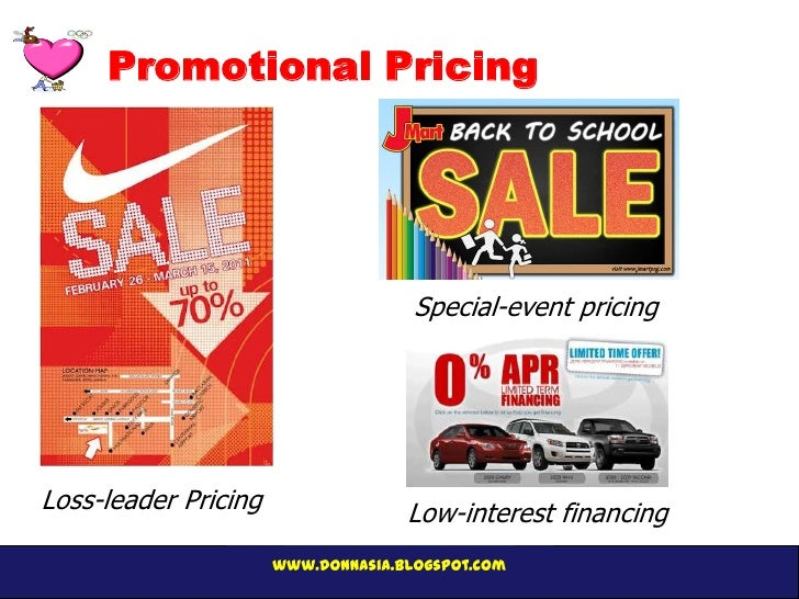 Promotional pricing example.