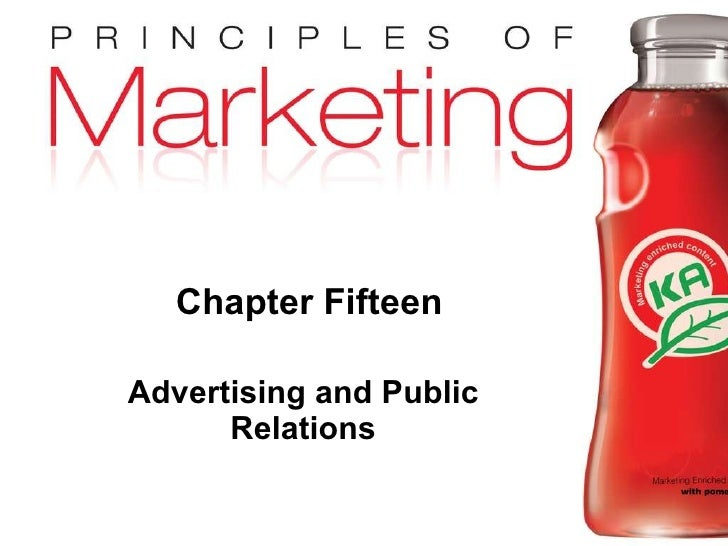 Chapter Fifteen Advertising and Public Relations
