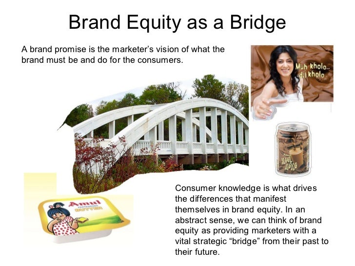 Brand Equity as a Bridge Consumer knowledge is what drives the differences that manifest themselves in brand equity. In an...