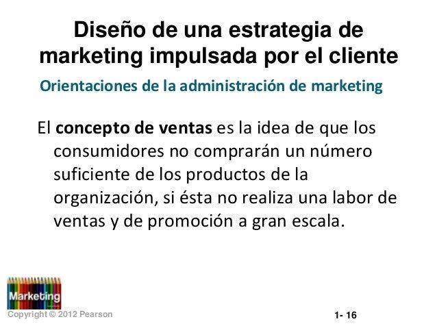 Diseño de una estrategia de marketing impulsada por el cliente Orientaciones de la administración de marketing  El concept...