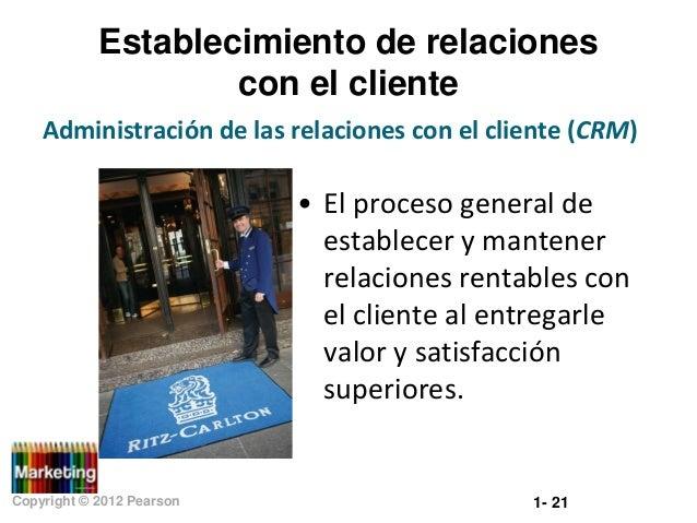 Establecimiento de relaciones con el cliente Administración de las relaciones con el cliente (CRM)  • El proceso general d...