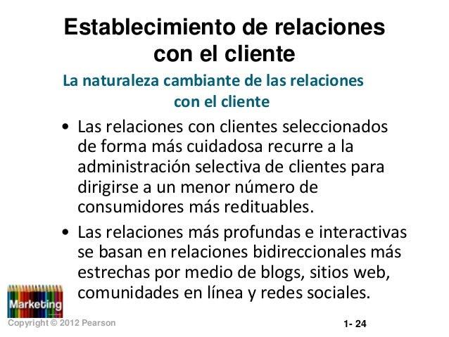Establecimiento de relaciones con el cliente La naturaleza cambiante de las relaciones con el cliente  • Las relaciones co...