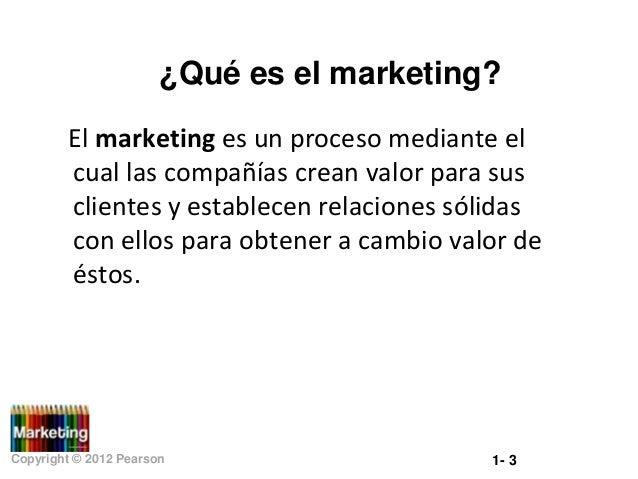 ¿Qué es el marketing? El marketing es un proceso mediante el cual las compañías crean valor para sus clientes y establecen...