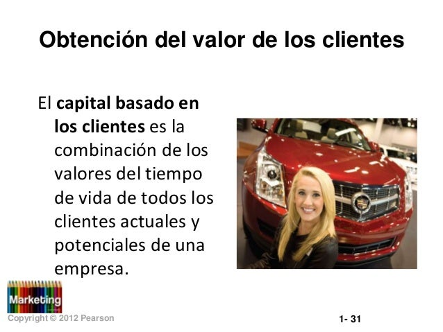 Obtención del valor de los clientes El capital basado en los clientes es la combinación de los valores del tiempo de vida ...