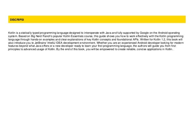 kotlin programming the big nerd ranch guide pdf github