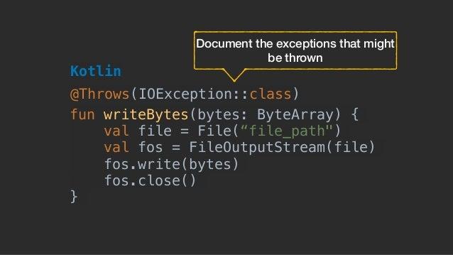 """fun writeBytes(bytes: ByteArray) { val file = File(""""file_path"""") val fos = FileOutputStream(file) fos.write(bytes) fos.clos..."""
