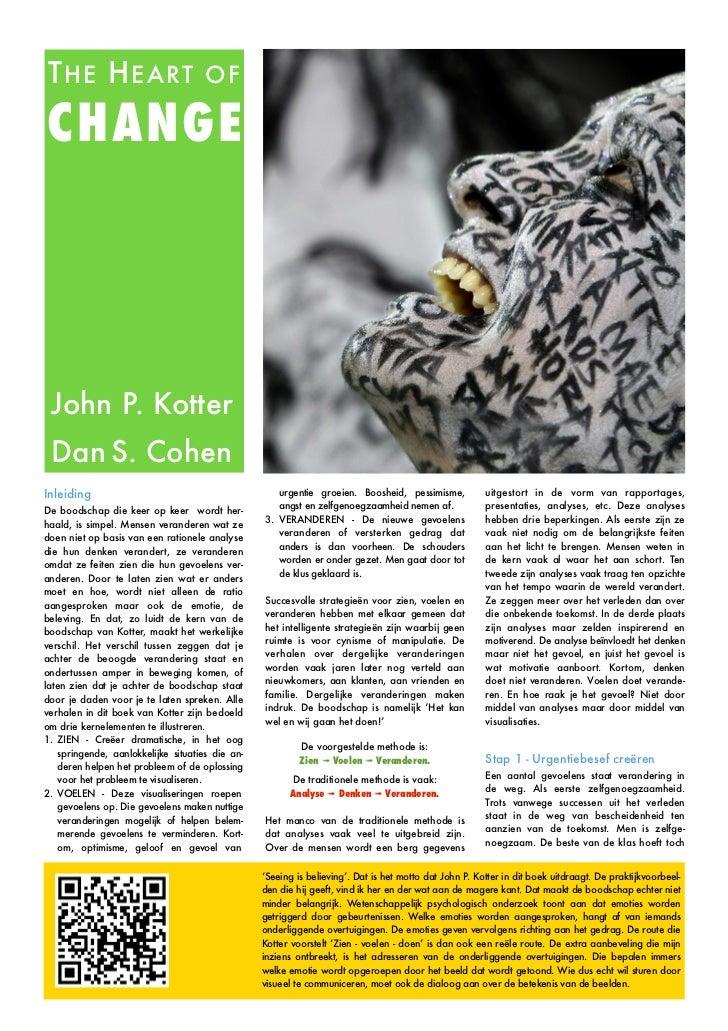 T HE H EART                          OFCHANGE John P. Kotter Dan S. CohenInleiding                                        ...
