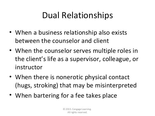ethical dilemma dual relationships Ethical dilemma 1 the line: by: liz wolf 2  the dilemma of dual & multiple • relationships in rural clinical practice  ethical dilemmas at worplace.