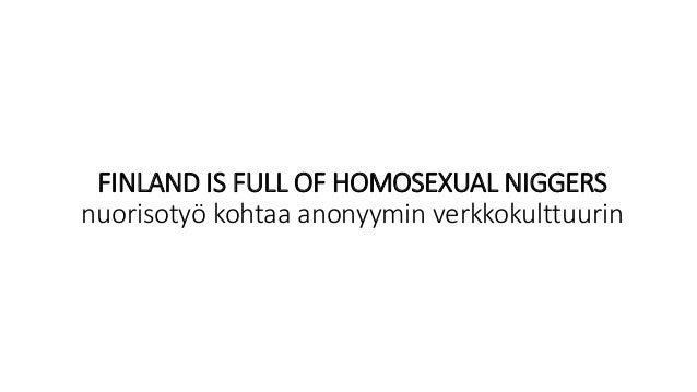 FINLAND IS FULL OF HOMOSEXUAL NIGGERS nuorisotyö kohtaa anonyymin verkkokulttuurin