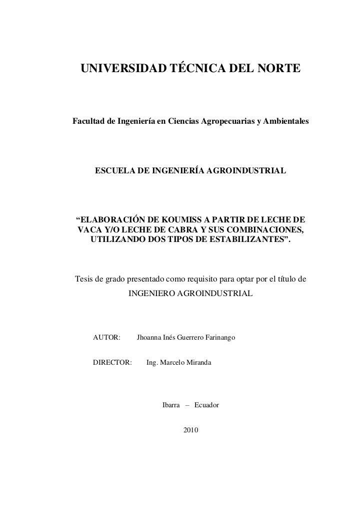 UNIVERSIDAD TÉCNICA DEL NORTEFacultad de Ingeniería en Ciencias Agropecuarias y Ambientales     ESCUELA DE INGENIERÍA AGRO...