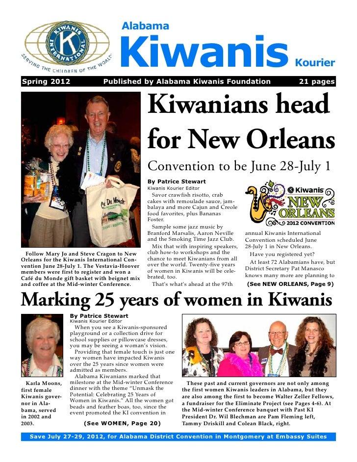 AlabamaSpring 2012                                    Kiwanis                               Published by Alabama Kiwanis ...