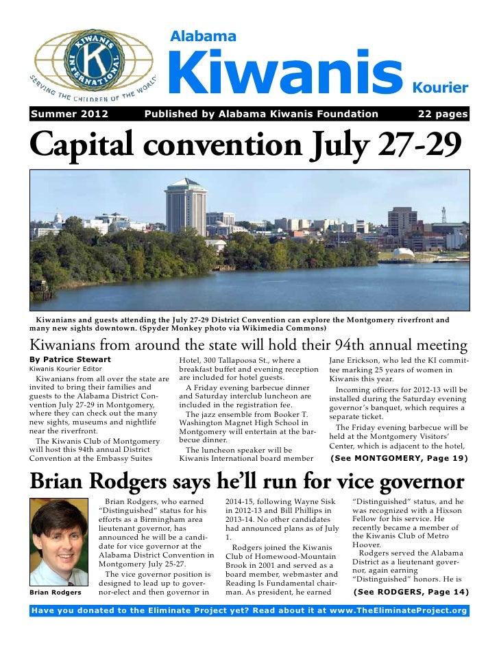 AlabamaSummer 2012                                      Kiwanis                                 Published by Alabama Kiwa...