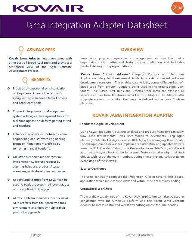 Jama Contour Integration - Datasheet