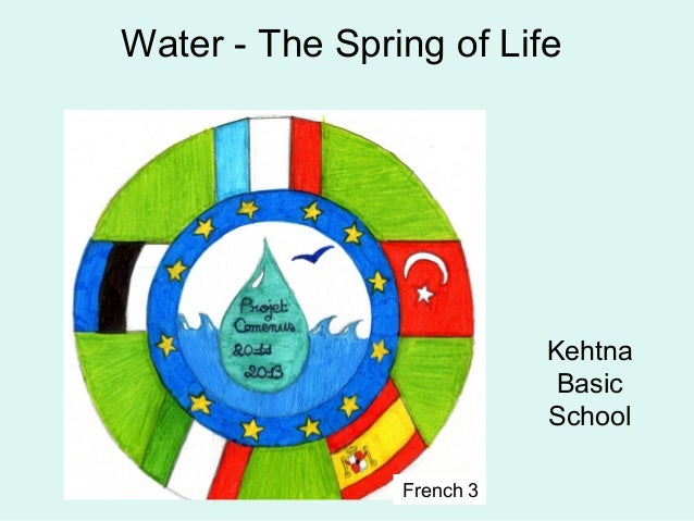 Water - The Spring of LifeKehtnaBasicSchoolFrench 3