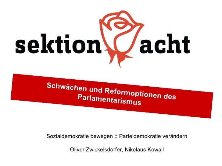Schwächen          und Reform                     optionen de       Parlamenta               s                 rismusSozia...