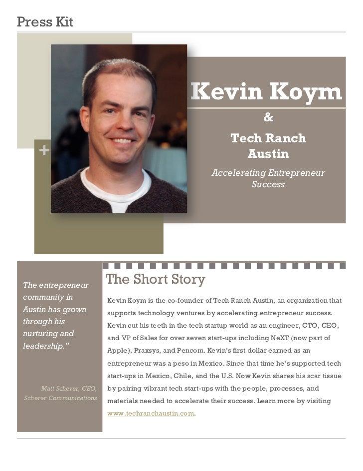 Press Kit                                                     Kevin Koym                                                  ...