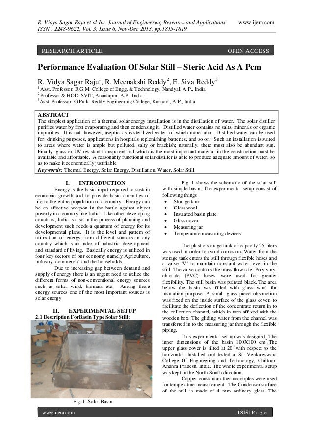 R. Vidya Sagar Raju et al Int. Journal of Engineering Research and Applications ISSN : 2248-9622, Vol. 3, Issue 6, Nov-Dec...