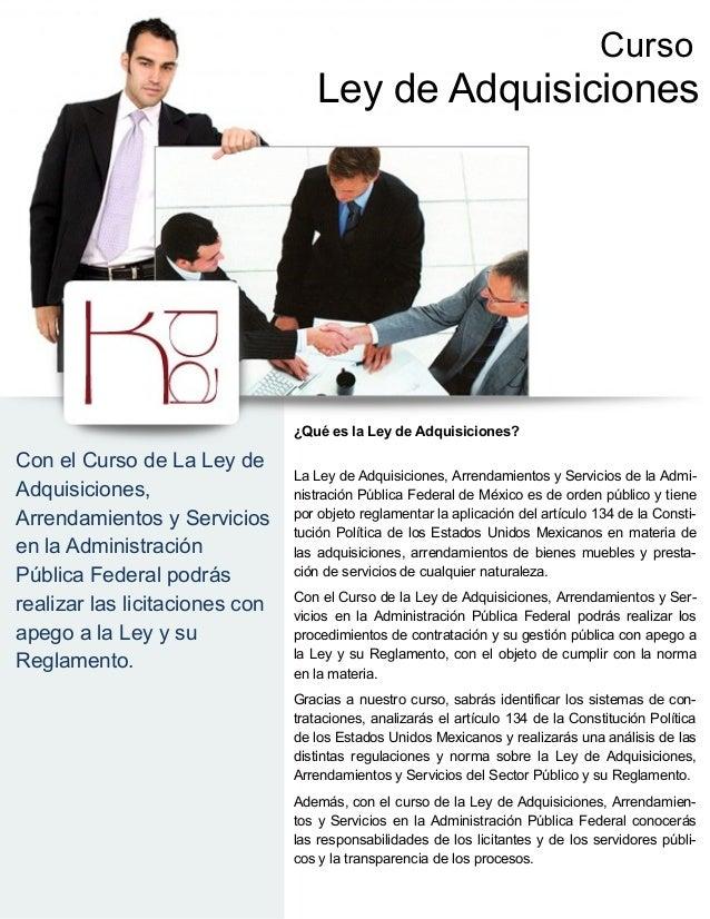 Curso                                    Ley de Adquisiciones                                ¿Qué es la Ley de Adquisicion...
