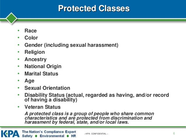 What Are The Protected Classes Under Discrimination Laws?