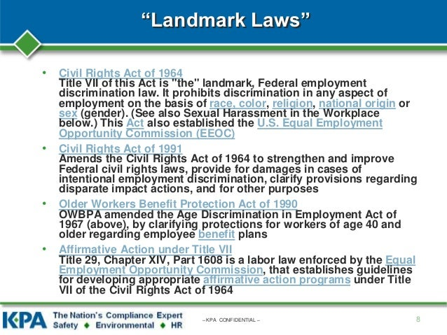 an interpretation of the civil rights act of 1964 regarding sexual harassment It's our interpretation of the law and it's meant case regarding whether title vii of the civil rights act of 1964 attention to sexual harassment.