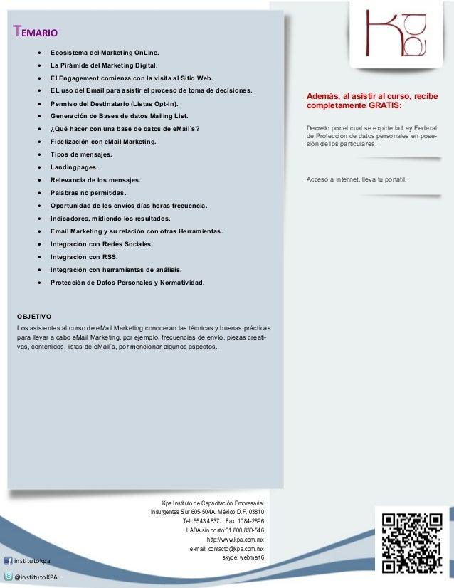 TEMARIO              Ecosistema del Marketing OnLine.              La Pirámide del Marketing Digital.              El E...
