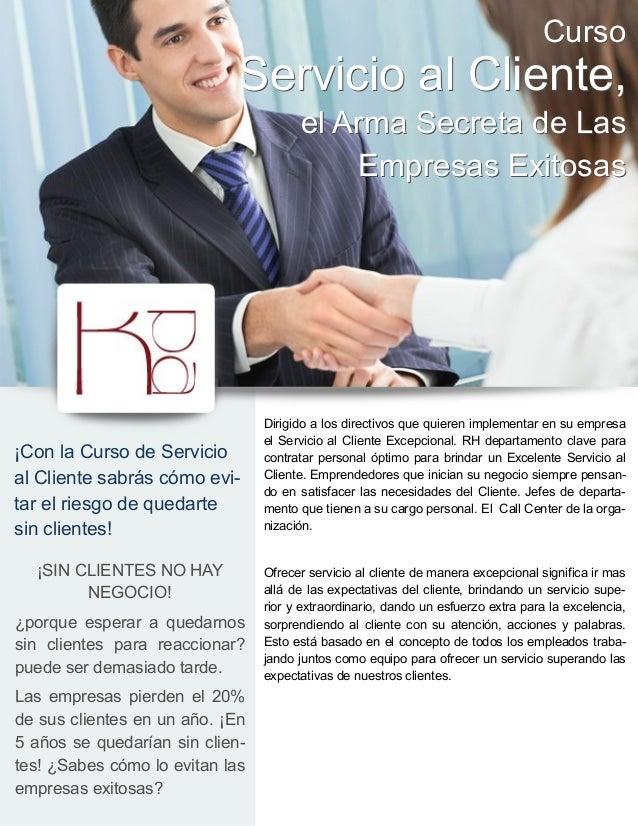 Curso                             Servicio al Cliente,                                       el Arma Secreta de Las       ...