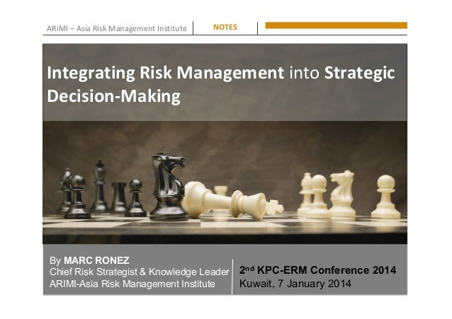 ARiMI	–	Asia	Risk	Management	Institute	 By MARC RONEZ Chief Risk Strategist & Knowledge Leader ARIMI-Asia Risk Management ...