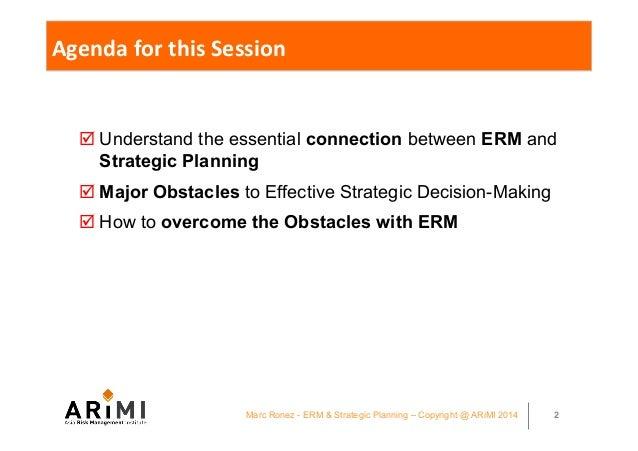 KPC ERM conference Kuwait 2014 - Integrating ERM and Strategic Planning - Marc Ronez presentation Slide 2